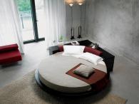Кръгло легло с луксозна дамаска
